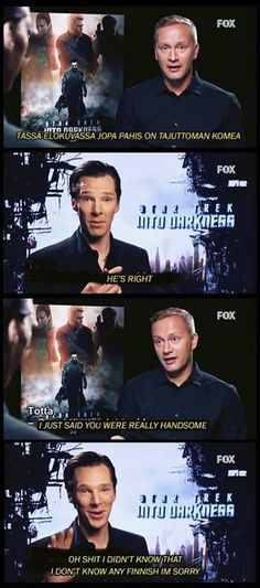 "via Twitter/SherlockSkull: ""Lmao!!! Benedict its ok... just admit it""  ---  You, sir, you are too adorable for words."