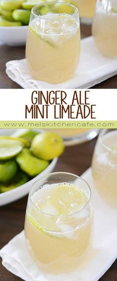 Ginger Ale Mint Limeade - So simple and super refreshing!