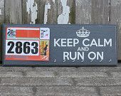 Running Medals Display and Bib Holder by StrutYourStuffSignCo