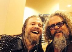 Ryan Hurst and Mark Boone Jr at Sons of Anarchy backstage I CAN'T TAKE IT