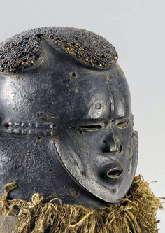 Africa | Mask from the Igala people of Nigeria | Wood, pigment, fiber and seeds
