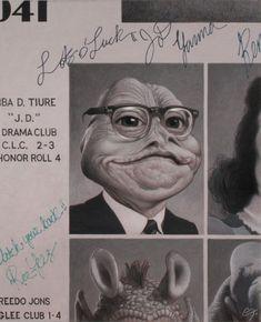 """""""Jabba the Hutt High School Reunion"""" by C. Jon Lee, Vision Book, Jabba The Hutt, Glee Club, School Reunion, Geek Art, Star Wars Art, Inspire Me, Character Art"""