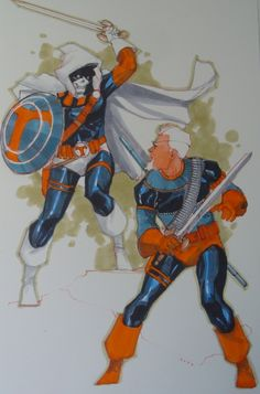 Taskmaster vs. Deathstroke by Phil Noto *