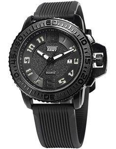 SHARK ARMY Herren Armbanduhr Analog Quarz Datum Anzeige Militär Silikon Band SAW180 - http://uhr.haus/shark-army/shark-army-herren-armbanduhr-analog-quarz-datum-2
