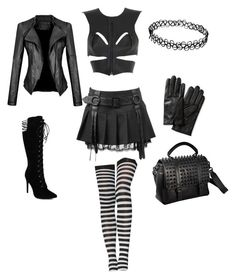 gothic style by shilla-negative on Polyvore featuring moda, Fleet Ilya, RK New York and Banana Republic
