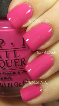 """OPI """"Kiss Me on my Tulips"""" from OPIs Spring 2012 Holland Collection! Gorgeous hot pink creme! Beautiful shellac/nail color."""
