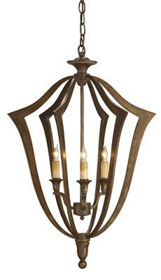 Nala Chandelier - subtle bronze verdigris finish on wrought iron in classic form