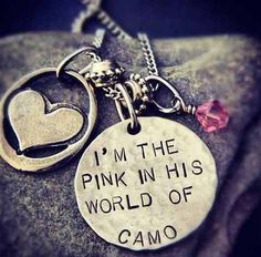 For a military wife or girlfriend...too cute! ♥