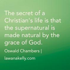 The Secret of a Christian's Life