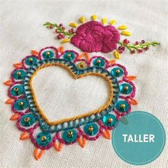 Embroidery Hearts, Hand Embroidery Stitches, Hand Embroidery Designs, Beaded Embroidery, Embroidery Patterns, Stitch Patterns, Sewing Patterns, Broderie Simple, Mexican Embroidery