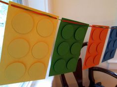 Lego Birthday Party Banner by ShellCottageCard on Etsy, $20.00