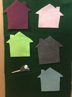 """Interactive Felt Board Games: """"Little Mouse, Little Mouse, are you in the [color] house? Apple Life Cycle, Color Unit, Unit Plan, Community Helpers, School Themes, Tot School, Free Coloring, September, The Unit"""