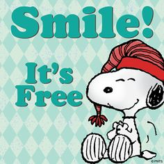 Smile quotes cute quote smile snoopy