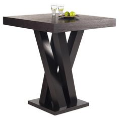Ash wood bar table with a branching base.  Product: Pub tableConstruction Material: Ash and ash veneer