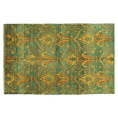 Check out this item at One Kings Lane! Isabelle Rug, Emerald/Gold