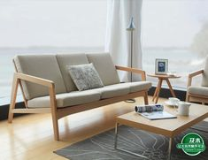 Nordic contracted design / creative Japanese style furniture / European beech solid wood cloth art sofa|furniture mechanism|sofa gliderfurniture legs sofa - AliExpress Wood Sofa, Sofa Furniture, Sofa, Furniture, Wood Furniture, Cheap Living Rooms, Living Room Sofa, Wooden Sofa Designs, Nordic Sofa