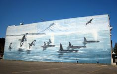 Robert Wyland mural - downtown Tacoma, WA.