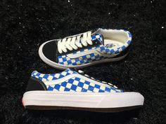 Vans Old Skool Style 36 VN-0XI0D19 Blue White Skate Shoes #Vans