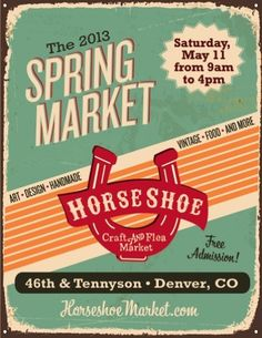 Spring Horseshoe Craft & Flea Market Poster 2013