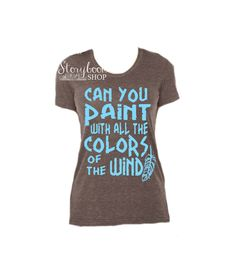 Pocahontas Shirt - Disney Shirt - Colors Of The Wind Shirt - Disney Princess Shirt - Disney Vacation - Tribal - Indian Feather - Pocahontas by StorybookShop on Etsy (null)