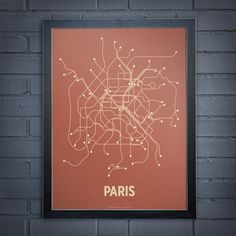 Line Posters Paris - Screenprint artwork Artists: Cayla Ferari & John Breznicky Illustrations, Illustration Art, Metro Paris, Blog Art, Subway Map, Paris Map, Paris Poster, I Love Paris, Screen Printing