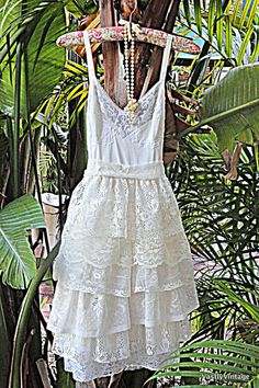 Bohemian Lace Bridal Short Vintage Slip Wedding Dress Reclaimed Romantic Bridesmaid Dress Produced to Invest in - http://www.usedweddingresales.com/bohemian-lace-bridal-short-vintage-slip-wedding-dress-reclaimed-romantic-bridesmaid-dress-produced-to-invest-in.html