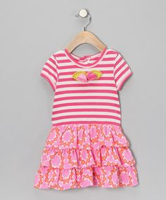Take a look at this Fuchsia Flower Ruffle Dress - Infant & Toddler by Baby Lulu on #zulily today!