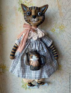 Купить Чай с горы Фудзи))) - коричневый, кошка, кошечка, подарок, чайник, Фудзи, япония, улитка
