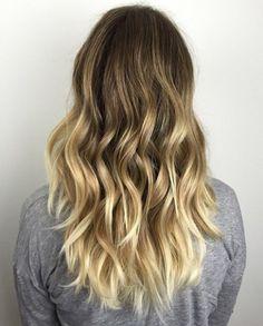 golden blonde balayage for dark brown hair