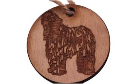 Christmas Decoration Dog : Puli, Sheepdog, Bearded Collie, Bergamasco.