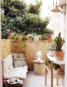 Decorate your balcony with indoor comforts