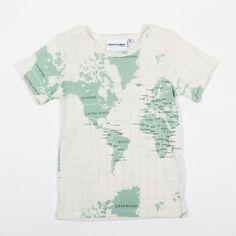 World Map Shirt | shirt at Fröken Hilda | Map of the World