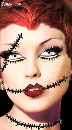 @Alisha Cuming... This is cool make up for a broken doll.