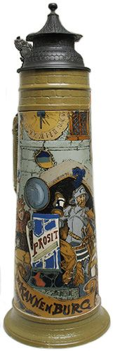 "Mettlach ""etched"" stein No. 2524"
