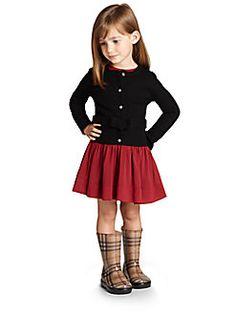 Burberry - Little Girl's Wool Bow Cardigan