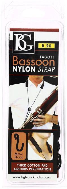 BG B20 Cotton Padded Nylon Bassoon Strap BRAND NEW