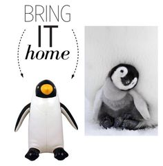 """""""Bring It Home: Penguin Bookend"""" by polyvore-editorial ❤ liked on Polyvore featuring interior, interiors, interior design, home, home decor, interior decorating, Streamline NYC and bringithome"""