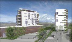 Render progetto edifici Rendering di Monica Bozzo