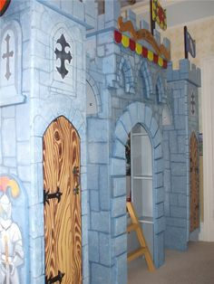 Children's Hand Painted Majestic Castle Bed. Of course you'll have your own castle to sleep in at night.