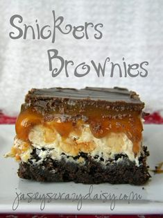 Snickers Brownies | 7 Desserts That Are Trying To Kill You