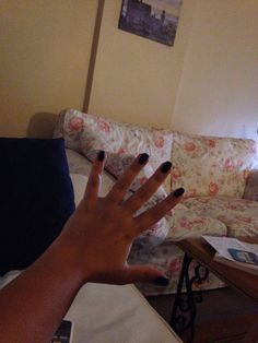 dark dark dark and matte blue nail polish