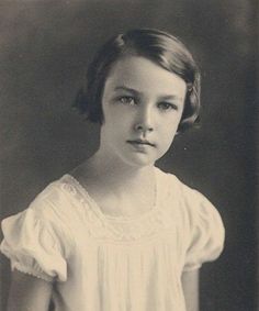 Flannery O'Connor's First Communion, age 7.