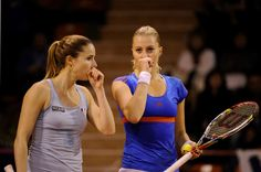 Alizé Cornet and Kristina Mladenovic - Fed Cup 2013