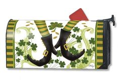 Magnet Works MailWraps Mailbox Cover - Irish Jig Design Magnetic Mail