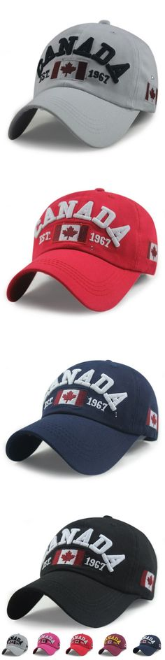 Wholesale Retail Classic Fashion Cotton Sports Baseball Cap Canada America Flag Caps For Men Women Summer Gorras Free Shipping