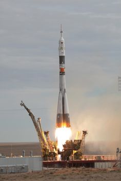 A Russian Soyuz FG rocket has launched the Soyuz TMA-18M spacecraft on the latest mission to the International Space Station at 04:37 GMT (00:37 EDT) on Wednesday. Soyuz TMA-18M is delivering one new Expedition crewmember to ISS while the two TMA-18M Flight Engineers will return to Earth with Soyuz TMA-16M on 11 September. - nasaspaceflight.com
