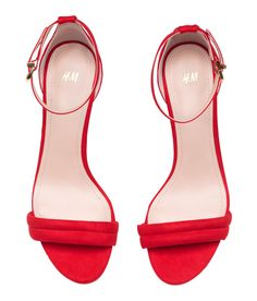 Red High-heeled Sandals | H&M Shoes