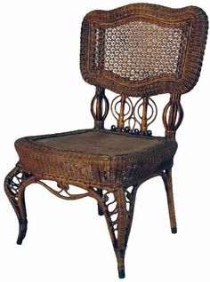 GREAT VICTORIAN WICKER PARLOR CHAIR
