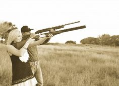 """""""The couple that hunts together, stays together.""""    Hahaha that comment! I'd love to hunt with my future hubby"""