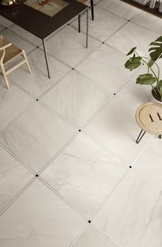 It's all in the detail. Genus from Imola, a porcelain collection inspired by marble Tiles For Sale, Poured Concrete, Kitchen Wall Tiles, Porcelain Tile, Italian Style, Living Area, Interior Inspiration, Tile Floor, Bathrooms